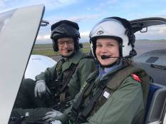 Student and Pilot before take off