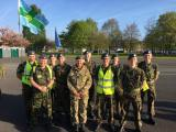 1082 Squadron with Air Commodore Dawn McCafferty at the RAFWARMA road marches at RAF Cosford in 2017.