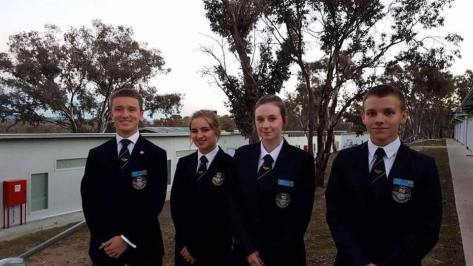 CWO Morgan Pether with the International Air Cadet Exchange in Australia.