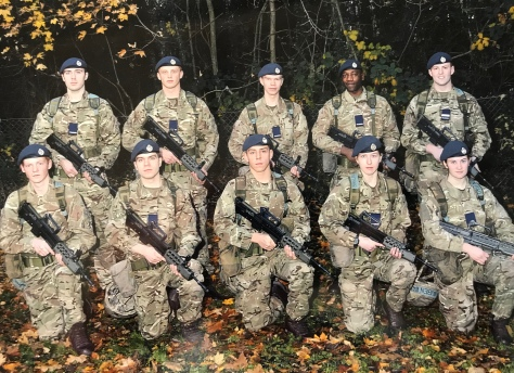 Former CI Matthew Harris during initial training at RAF Halton.