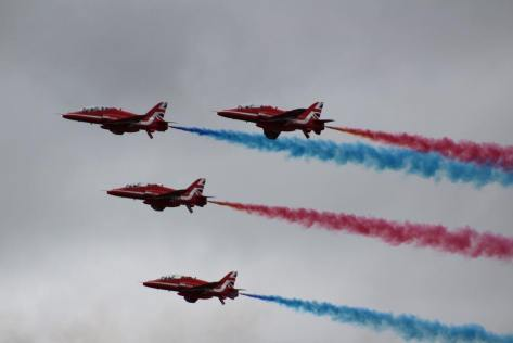 Red Arrows at RAF Scampton Airshow 2017