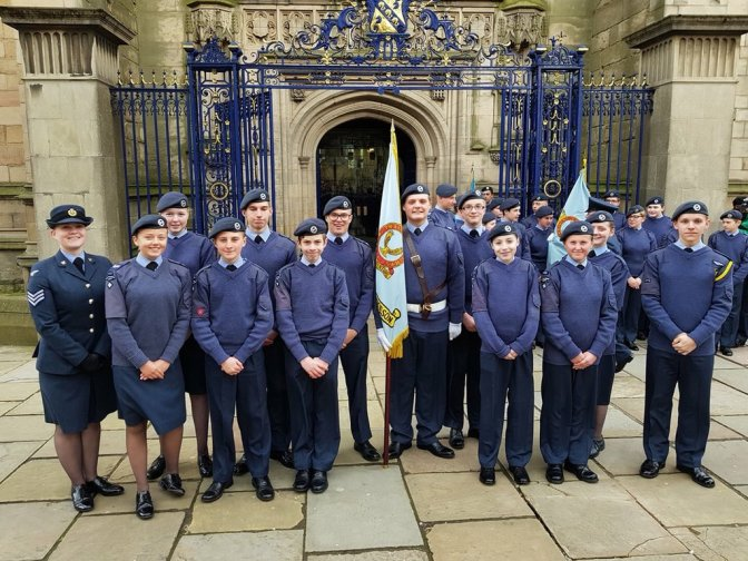 Cadets take part in RAF 100 Parade in Derby