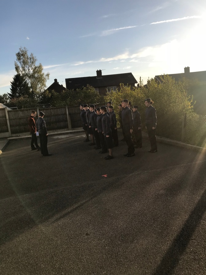 Cadets practicing Drill for Wing Field Day in the sunshine! @comdtac @trentwingatc @OCtrent1